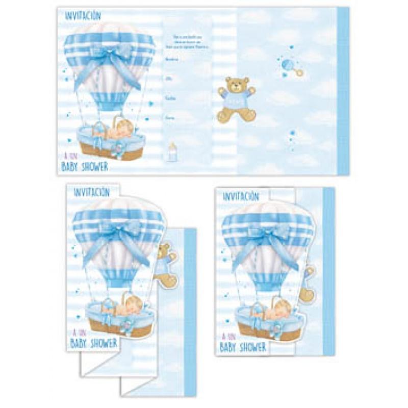 BABY SHOWER INVITATION BOY SPANISH W/ENVELOPE 100/PKG - San Francis