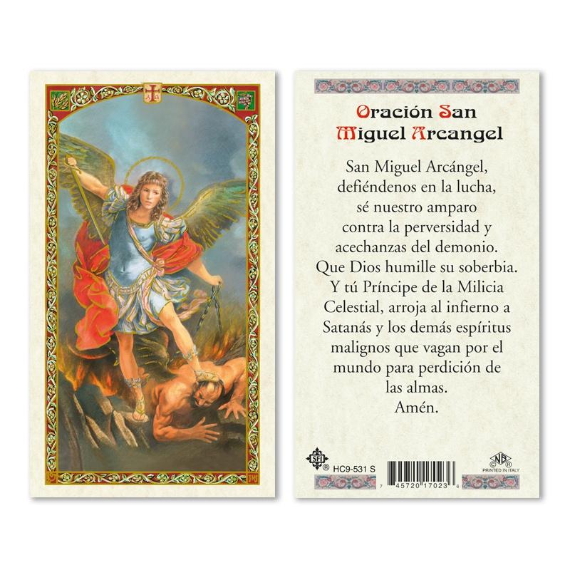 Saint Michael Archangel Prayer 25 Pkg Spanish San Francis