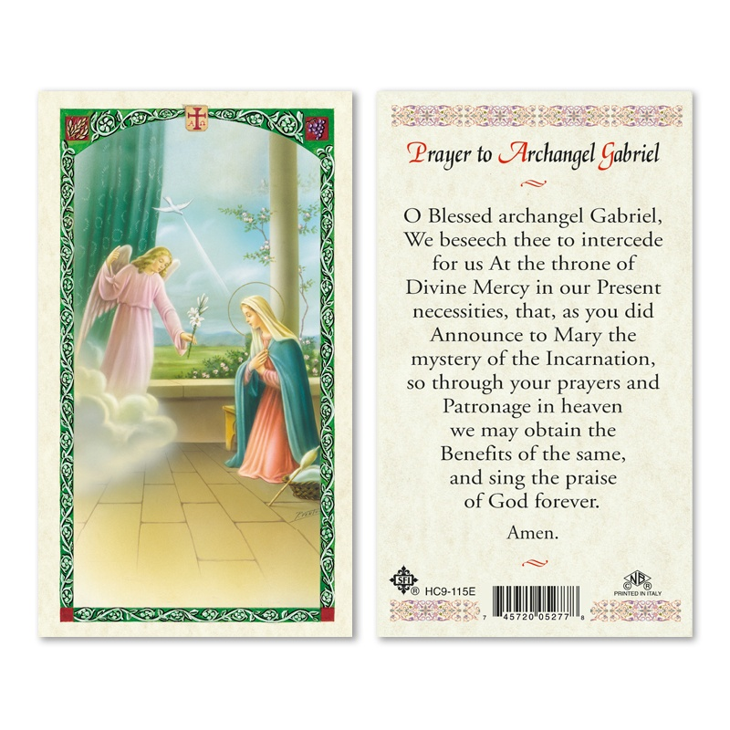 St Gabriel Archangel Prayer To 25 Pkg San Francis