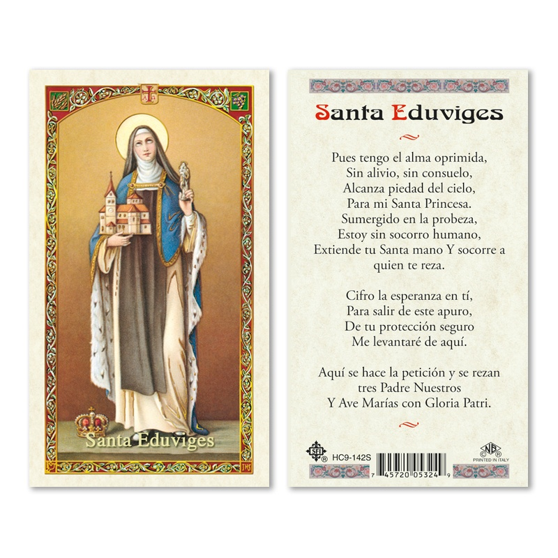 St Hedwig Eduviges Prayer To 25 Pkg San Francis