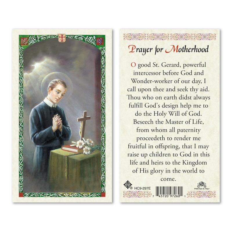 St Gerard Majella Prayer For Motherhood 25 Pkg San Francis