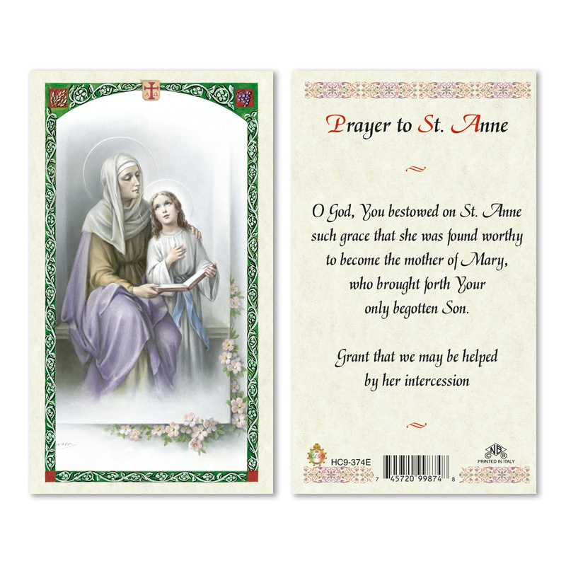St Anne Prayer To 25 Pkg San Francis