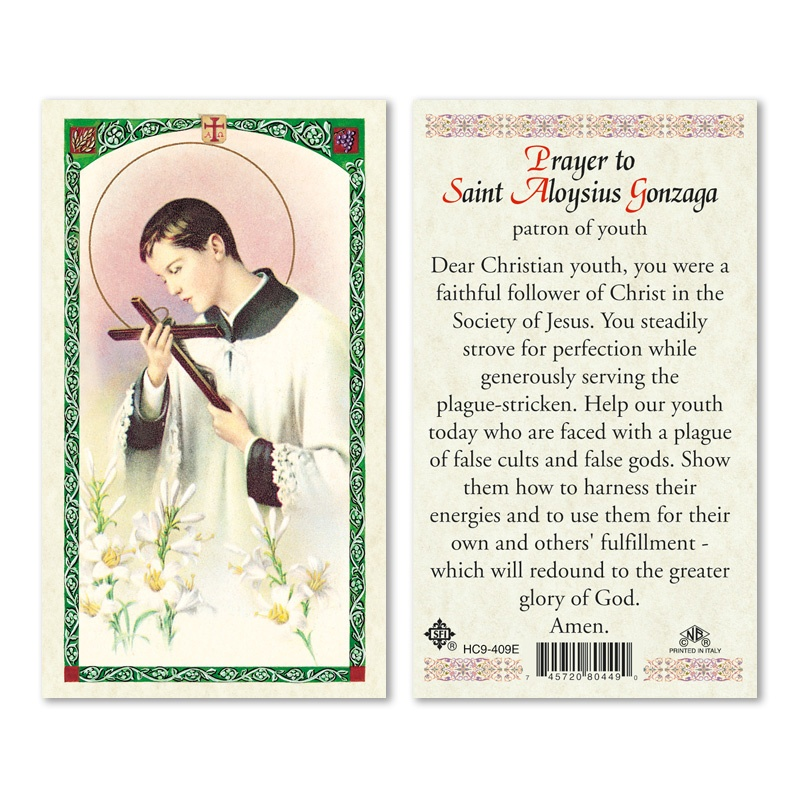 ST ALOYSIUS GONZAGA-PRAYER TO 25/PKG - San Francis